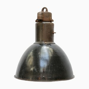 Vintage Industrial Enamel Pendant Lamp, 1930s