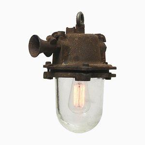 Braune industrielle Vintage Deckenlampe
