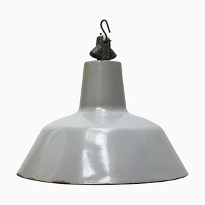 Vintage Industrial Dutch Grey Enamel Pendant from Philips