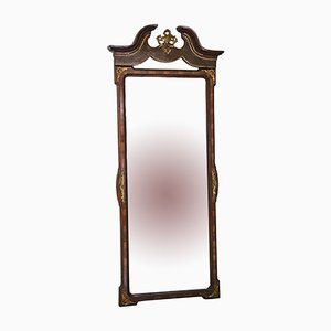Large Burr Walnut Wall Mirror, 1910s