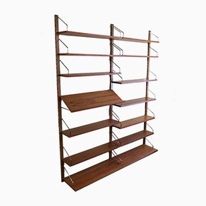 Teak Royal System Modular Wall Shelves by Poul Cadovius for Cado, 1960s