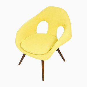 Mid-Century Yellow Fiberglass Shell Chair by František Jirák