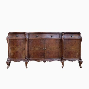 Carved Walnut Sideboard, 1940s