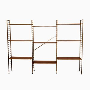 Teak Three Bay Ladderax Shelving System by Robert Heal for Staples Cricklewood, 1960s