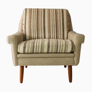 Mid-Century Danish Striped Armchair, 1960s