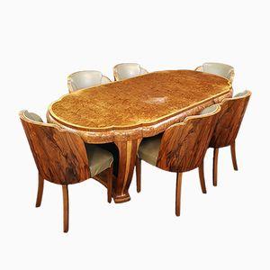 Art Deco Essgruppe von Harry & Lou Epstein