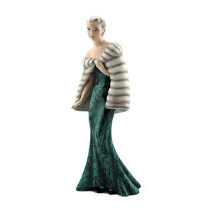 Figurine Lady Art Déco par Claire Weiss pour Friedrich Goldscheider