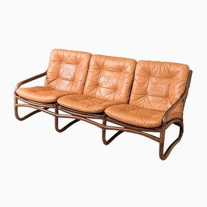 Mid-Century Sofa mit Gestell aus Bambus, 1960er