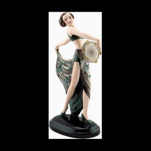 Art Deco Figurine by Josef Lorenzl for Friedrich Goldscheider