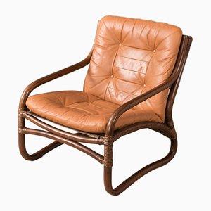 Mid-Century Sessel mit Gestell aus Bambus, 1960er