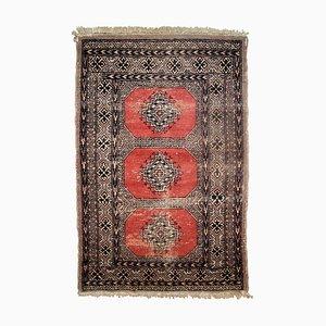 Alfombra Bukhara uzbeka vintage, años 60