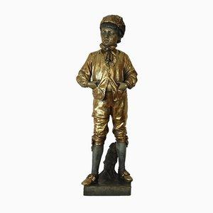 Antike Figurine eines Jungen von Friedrich Goldscheider