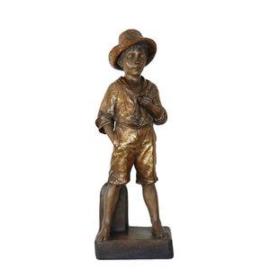 Antike Jungenfigur von Friedrich Goldscheider