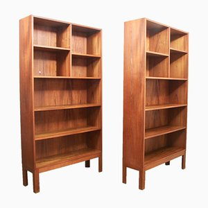 Vintage Danish Teak Bookcases, 1960s, Set of 2