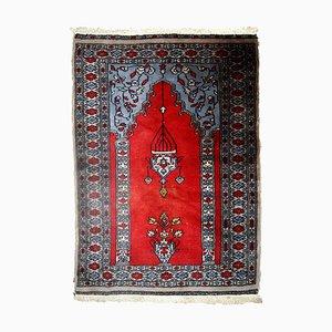 Alfombra Bukhara uzbeka vintage, años 70