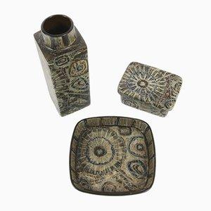 Ceramiche vintage di Nils Thorson per Royal Copenhagen, Danimarca, anni '70, set di 3