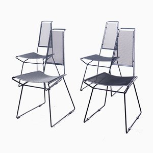 Metallstühle von Rolf Rahmlow, 1980er, 4er Set
