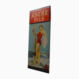 Alsace Anchor Pilser Sign, 1930s