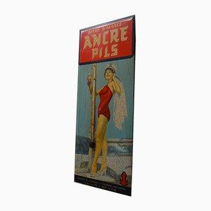 Cartel publicitario de Alsace Ancre Pils, años 30