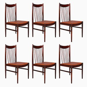 Rosewood Model 422 Chairs by Arne Vodder for Sibast, 1960s, Set of 6