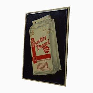 Panneau Publicitaire Biscottes Paquot, 1950s