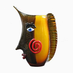 Large Murano Glass Face Vase, 1960s