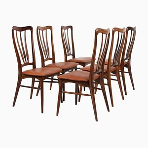 Rosewood Ingrid Dining Chairs by Niels Koefoed, 1960s, Set of 6