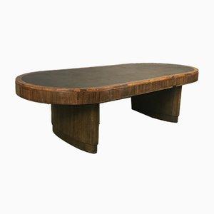 Large Art Deco Mahogany Table, 1930s