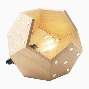 Lampada da tavolo Basic Twelve Solo in legno di Plato Design