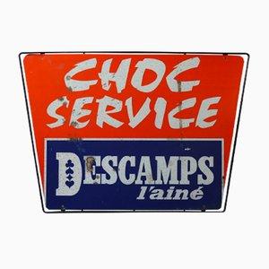 Panneau Publicitaire Choc Service, 1960s