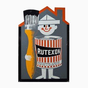Cartel publicitario de Rutexon, años 60