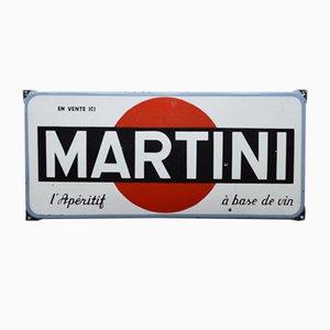 Cartel de Martini esmaltado, años 50