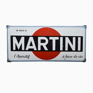 Emailliertes Martini Schild, 1950er