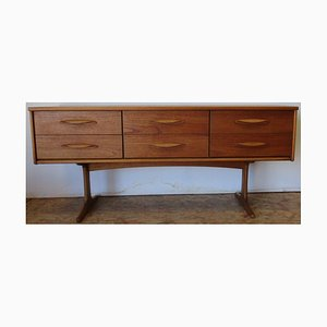 Long Dresser with Six Drawers by Frank Guille for Austinsuite, 1960s