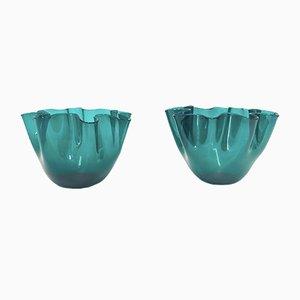 Vases Handkerchief par Fulvio Bianconi pour Venini, 1950s, Set de 2