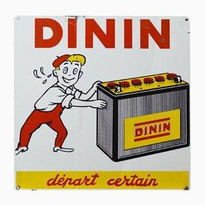 Dinin Werbeschild, 1950er