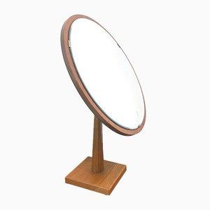 Espejo de mesa de roble de Ateljé Glas & Trä Hovmantorp, años 50