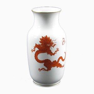 Große Ming Vase aus Porzellan mit Drachenmotiv von Meissen, 1950er