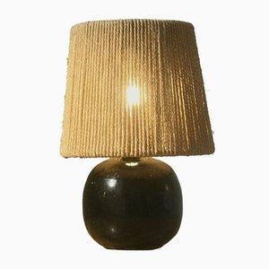 Tischlampe mit Keramikfuß, 1950er