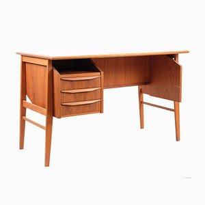 Vintage Danish Teak Desk by Gunnar Nielsen Tibergaard