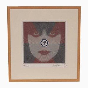 Set avec Livre d'Art et Sérigraphie par Roger Pfund pour Teunen & Teune, Allemagne, 1993
