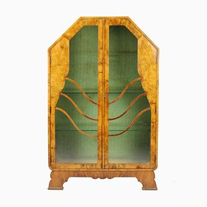 English Art Deco Display Cabinet from Nusenbaums, 1930s