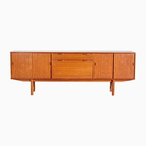 Mid-Century Danish Teak Sideboard with Folding Front Door, 1960s