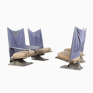 Sedie modello AEO di Archizoom per Cassina, anni '70, set di 4