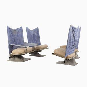 Chaises Modèle AEO par Archizoom pour Cassina, 1970s, Set de 4