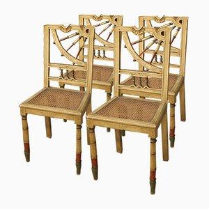 Lackierte spanische Stühle, 1960er, 4er Set