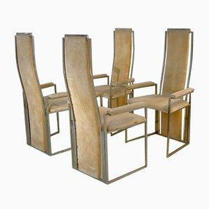 Esszimmerstühle von Willy Rizzo, 1970er, 4er Set