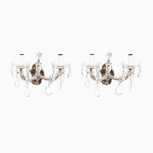 Französische Mid-Century Wandlampen, 2er Set