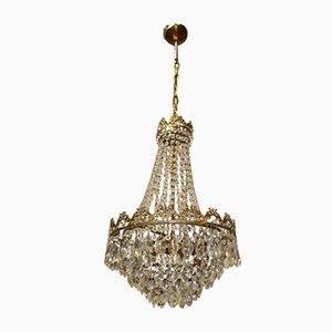 Lámpara de araña pequeña de cristal, años 60