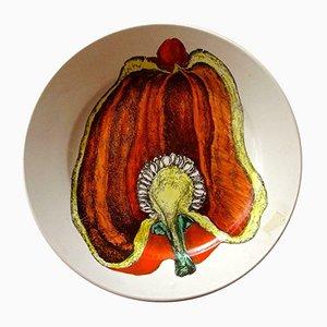 Keramikteller mit Pepperoni-Motiv von Atelier Fornasetti, 1950er